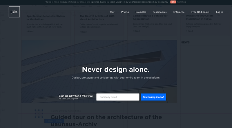 UXPin. Nice and interactive Wireframes.